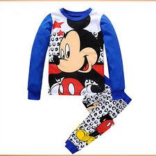 1c5ae03bd Boys Girls Kids Pajamas T-Shirt Tops+Pants Toddler Sleepwear Clothes Outfit  Set
