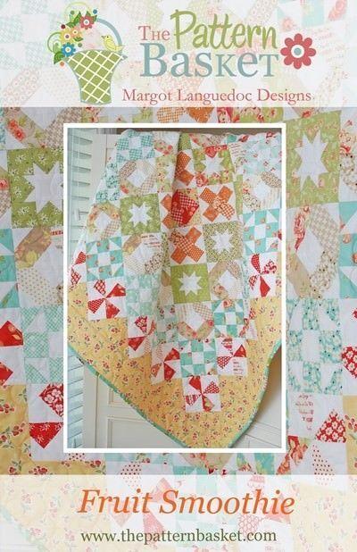 Quilt Pattern FEATHERS Moda PATTERN BASKET Strawberry Fields LAYER CAKE FRIENDLY