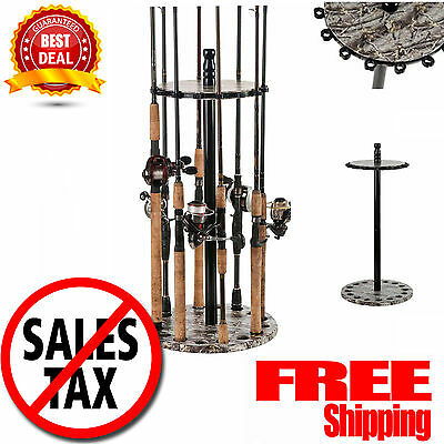 Fishing Rods Racks Standing Organizer Holder Floor Round