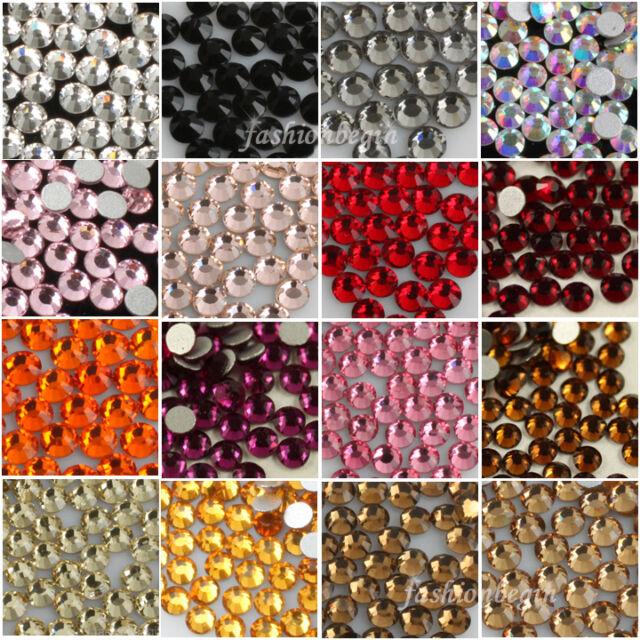 1440 SS3-SS20 DMC flatback Non-hotfix crystal foiled rhinestone Nail Art Crafts