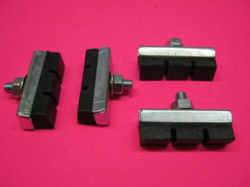 2 x ensembles//paires traditionnel métal//caoutchouc Vélo Frein Blocs Bloc tampons 43