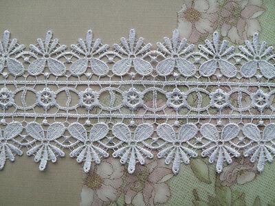 """Laces Galore  White Guipure 3/""""//8 cm Lace Trim  Lace 2/"""" Bride Wedding Craft Trim"""