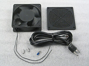115v 4 ac fan with plastic guard and wire harness custom. Black Bedroom Furniture Sets. Home Design Ideas