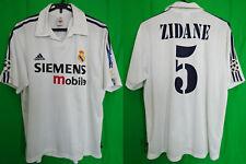 2002-2003 Real Madrid Jersey Shirt Camiseta Home Adidas Zidane #5 L UEFA CL UCL
