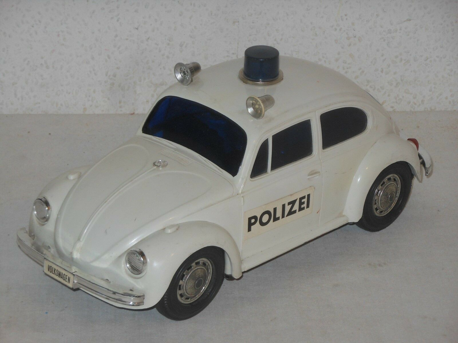 VW VOLKSWAGEN KÄFER BEETLE POLIZEI - 26 cm VINTAGE TOY - JAPAN - 12