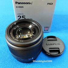 PANASONIC LUMIX G 25mm  F1.7 Lens H-H025 -Color:Black- For Micro Four Thirds