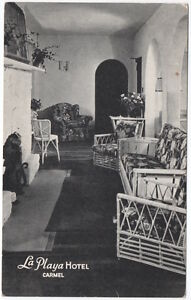 Postcard-Interior-of-La-Playa-Hotel-in-Carmel-California-107356