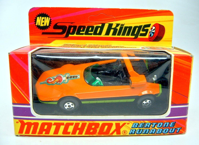 MATCHBOX SUPERKING k-31 Bertone Runabout Orange citron vert Top Dans Box