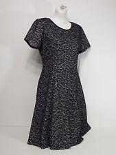 S.L. fashions Women's Dresses Metallic Zipper In Back Black Size 8 Short Sleeves