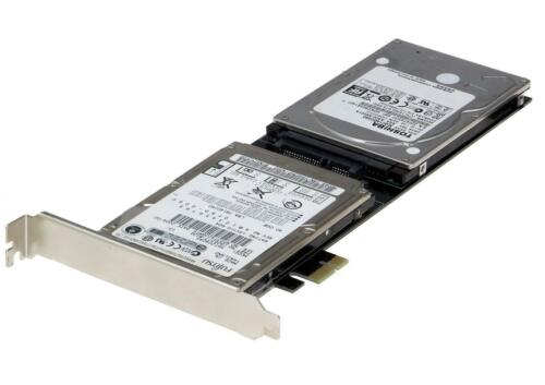 Extended Single side version Sedna PCIe Dual 2.5 Inch SATA III SSD Adapter