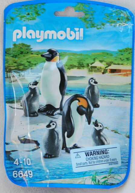 Playmobil PENGUIN FAMILY *NEW* Zoo Animals Family Babies Chicks 6649