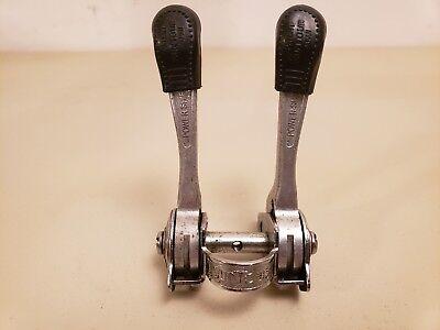 NOS Vintage Huret Long Downtube Shifters...Friction..5 or 6 Speed..Silver...Bike