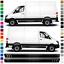 mit Mercedes Benz Sprinter Auto Transporter Seiten-Streifen Aufkleber-Set komp
