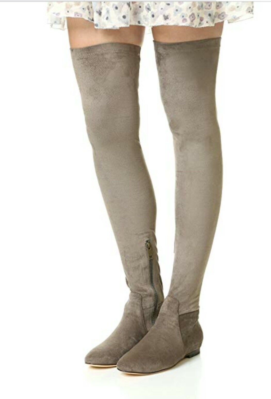 Joie Hayleigh sobre la rodilla con botas de gamuza Grafito