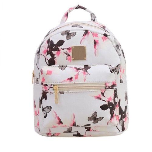 Women Backpack Floral Travel PU Leather Handbag Rucksack Shoulder School Bag Lot