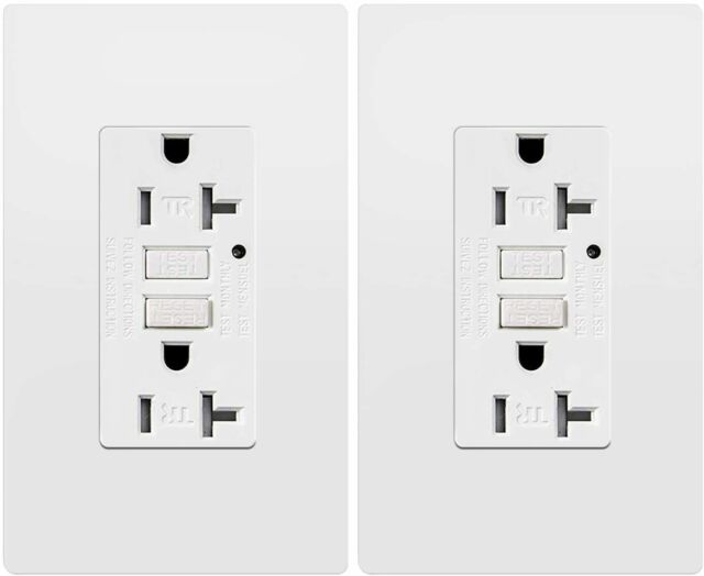 cooper wiring devices  new gfci electrical outlet almond