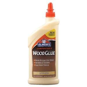 NEW ELMER'S E7020 16OZ CARPENTER'S WOOD GLUE INTERIOR PAINTABLE GLUE USA 6829717