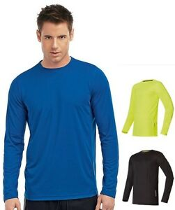 Hanes-Cool-DRI-7792-Plain-Long-Sleeve-Polyester-Performance-Sports-Tee-T-Shirt