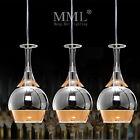 Wineglass Lamp Shade Ceiling Fixture Lighting Pendant Light LED Glass Chandelier
