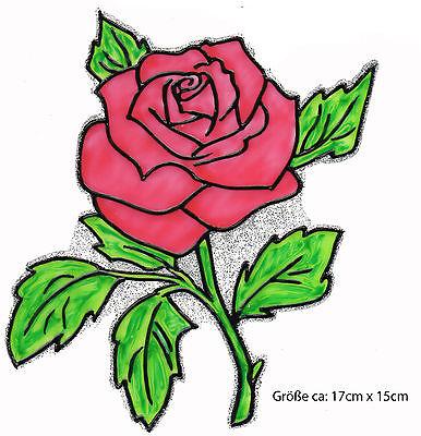 Fensterfolie Sticker 095 Fensterbild Window Color Bild Rose mit Schleife