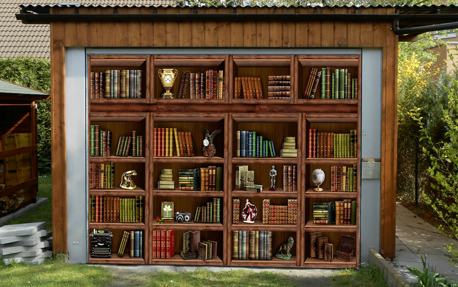 3D Book Wood Garage Door Murals Wall Print Decal Wall Deco AJ WALLPAPER IE