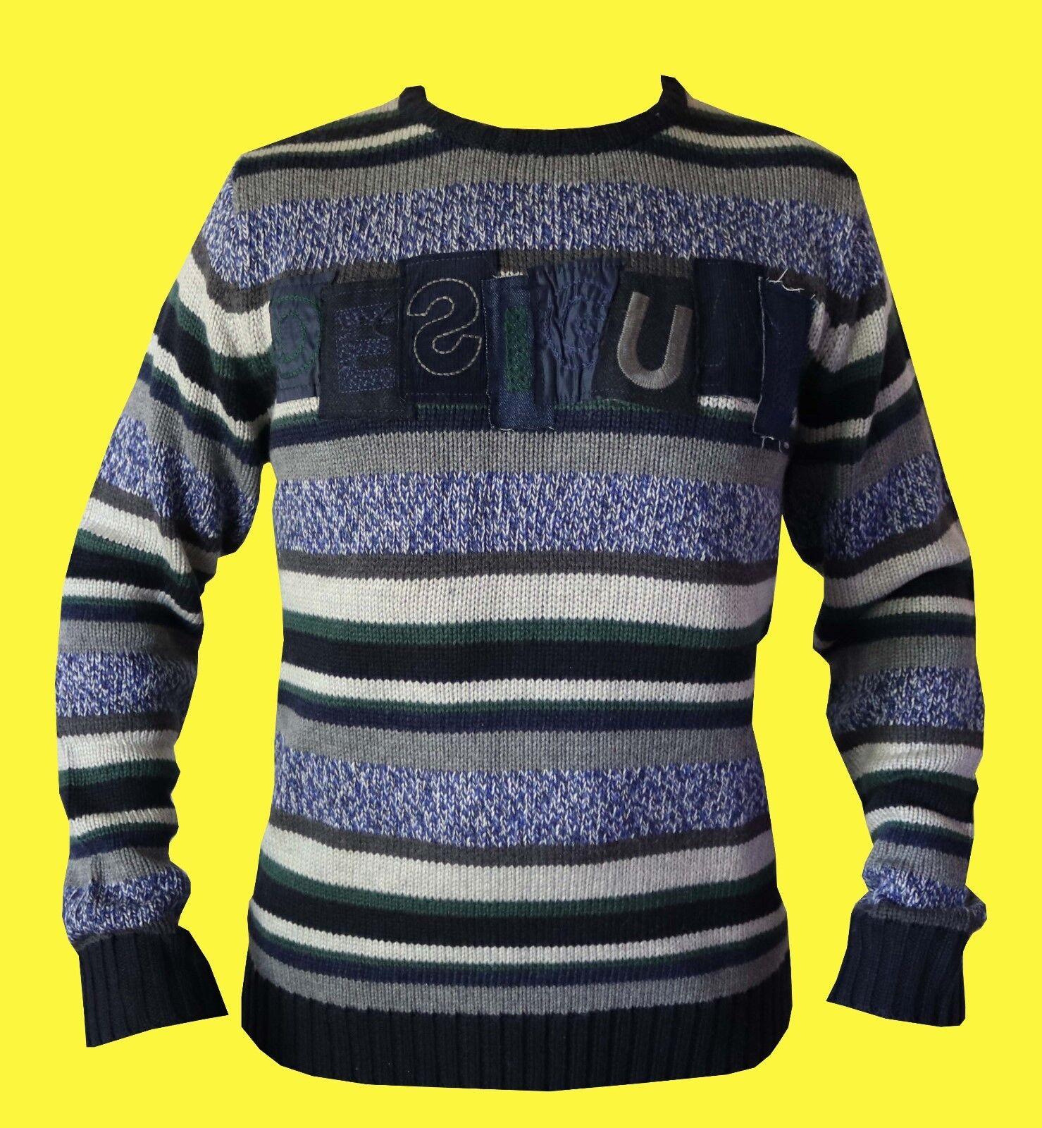 DESIGUAL PULLOVER/ Wollpullover für Herren  Jers_Branding_List  NEU  GR. M