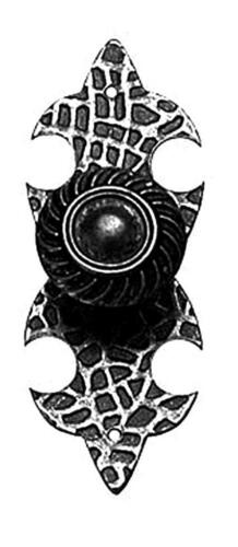 stile rustico Pomolo pomo pomello per mobile con piastra in ferro battuto