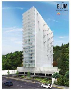 Departamento en venta en Blum Residencial Santa Fe, Álvaro Obregón, 2 Recámaras con Terraza