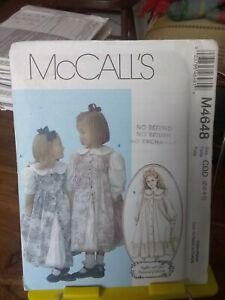 Oop-Mccalls-Ruffles-amp-Lace-4648-girls-country-dress-pinafore-sz-2-5-NEW