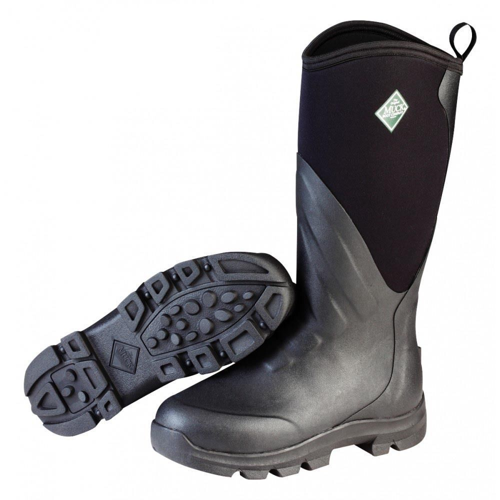 Muck Men's Grit Hard Core Work Boots Black Carbon MGR-000 Size 10 Brand New Box