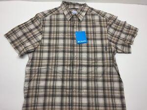 Harbor Blue Plaid Medium Columbia Mens Super Bonehead Classic Shorts Sleeve Shirt