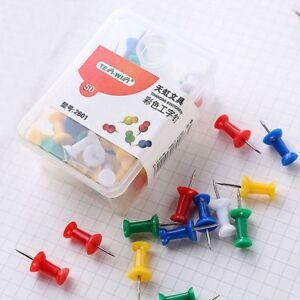 50pcs-Thumbtacks-Push-Pins-Map-Pin-Cork-Board-Thumb-Tacks-Office-School