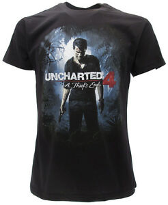 Official Mens T Shirt Uncharted 4 A Thief/'s End Skull