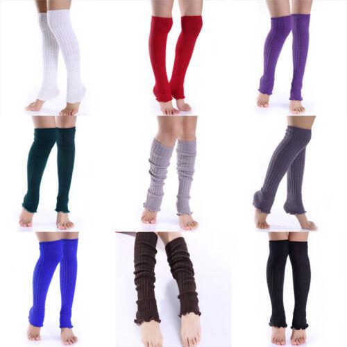 Mode Frauen Mädchen Winter Lange Beinlinge Stricken Häkeln Leggings Strümpfe  ZG