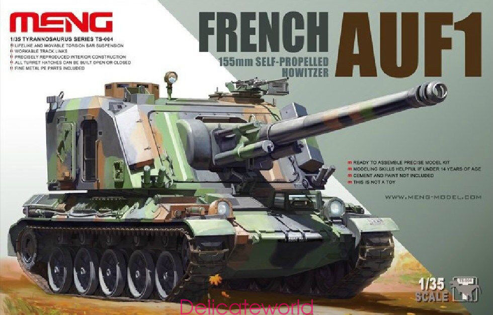 Meng Model 1 35 TS-004 French 155mm Self-Propelled Howitzer AUF-1