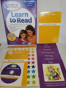Hooked On Phonics LEARN TO READ Kit Kindergarten Level 2 Ages 2-4