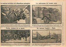 President Portugal Joaquim Teofilo Braga/Armored car Russia Army/Malta WWI 1915