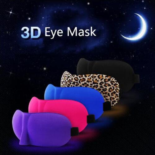 3D EYE MASK SOFT SPONGE PADDED TRAVEL SLEEPING BLINDFOLD SLEEP