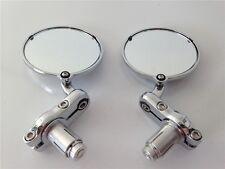 7/8 Inch Bar End Mirrors For Aprilia Vespa Kymco Piaagio Agusta Ktm Bmw Chrome