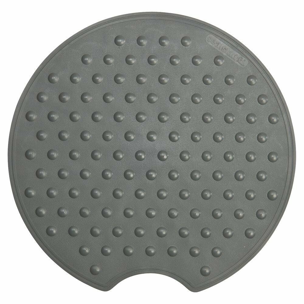 Gomma Sealskin Rotondo Tappetino Antiscivolo di Sicurezza Antracite 53,5 x 55 x 0,3 cm