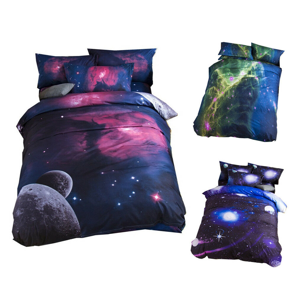 3D Fantasy Bettding Sets Universe Galaxy Bettclothes Bett Duvet Startseite Set Xmas Gift