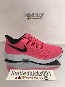 separation shoes 24087 9becb Details about BNWT NIKE AIR ZOOM PEGASUS 36 PINK WOMENS WHITE RUNNING  TRAINERS SHOES SZ 5.5