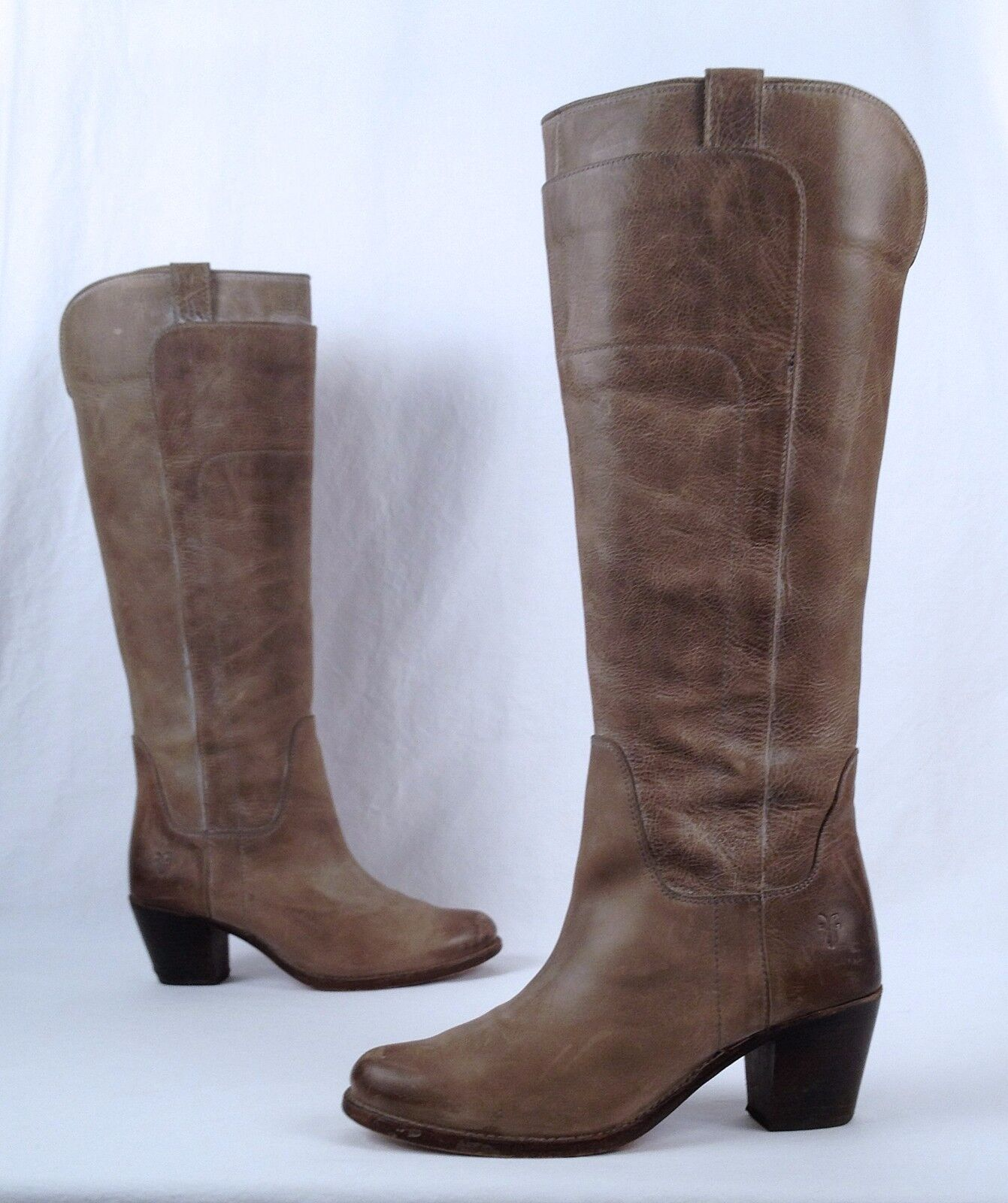 Frye 'Jackie' Tall Riding Boot- Taupe- Size 8 B   (B32)
