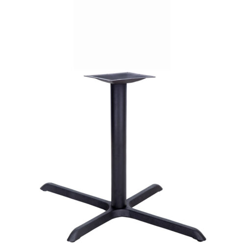 22/'/' x 30/'/' Restaurant Table X-Base with 3/'/' Dia Table Height Column