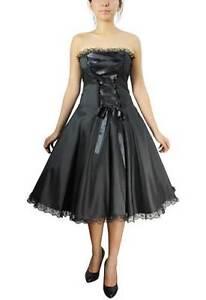 plus size black gothic corset strapless satin ribbon lace