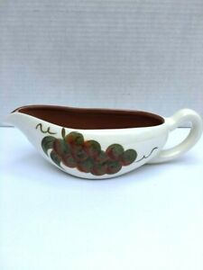 """Stangl """"Orchard Song"""" Gravy Boat Grape with Leaves Motif Decorative Pottery"""