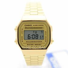 Genuine Casio Vintage Stainless Steel Gold Watch A168WG-9WDF A168WG-9 A168WG-9W