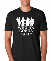 Ghostbusters who Ya Gonna Call 80s Movie Mens Athletic Fit T-shirt