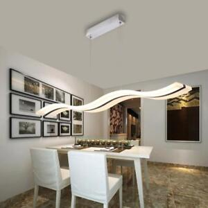 Details about Modern Dining Room Hanging Lights Stylish High Quality Wave  Design Ceiling Decor