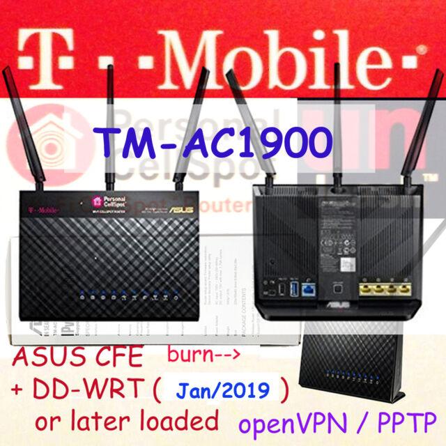 T-mobile ASUS Tm-ac1900 Wireless Dual Band Gigabit Router WiFi Cellspot  Ac1900